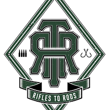 Rifles to Rods Tournament logo, Cape Cod, MA, May 17, 2019