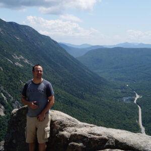 Cross Current Insurance Director of Marketing, Joe Philippon, Mt. Willard, Crawford Notch, NH