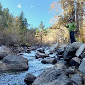 Joe Philippon Fly Fishing in Boulder, Colorado with Cross Current Insurance