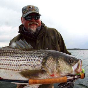 Cross Current Ambassador Crosby Beane showing his Striper