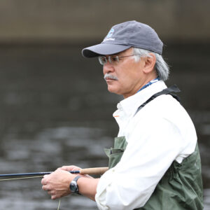 Augusto Russell fly fishing the Farmington River, CT